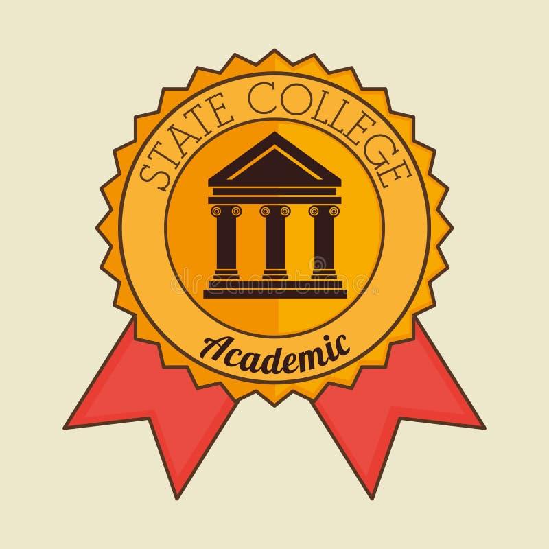 Академичный дизайн образования бесплатная иллюстрация