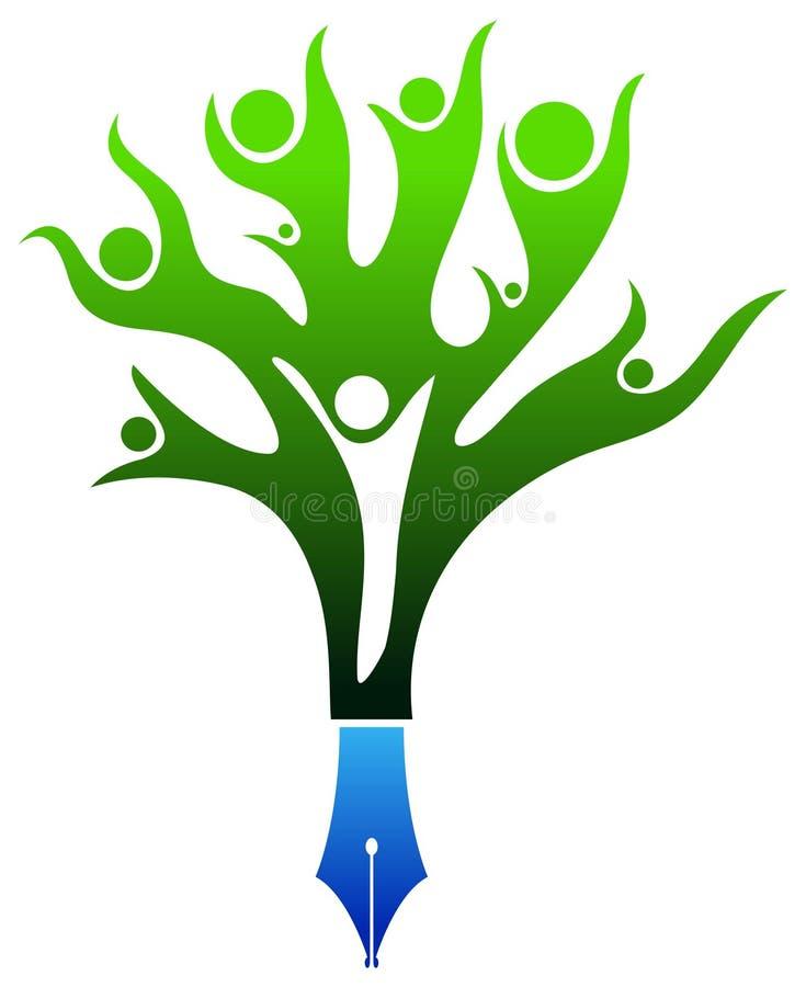 Академичный логотип иллюстрация вектора