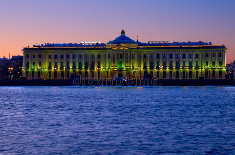 Академия искусств строя в Санкт-Петербурге стоковое фото