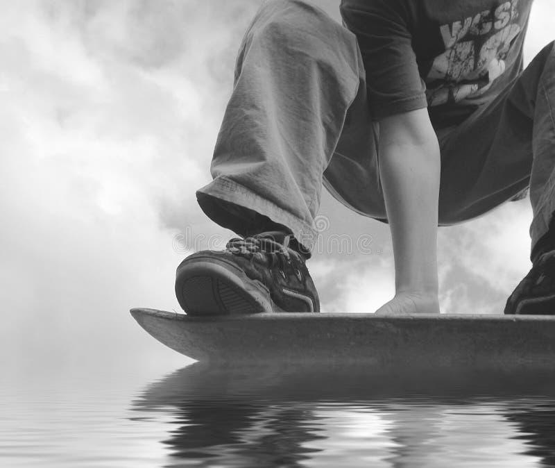Download аквапланируя скейтбордист стоковое изображение. изображение насчитывающей fail - 490949