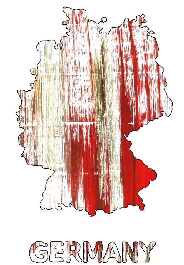 Акварель плана карты Германии международная оранжевая иллюстрация штока