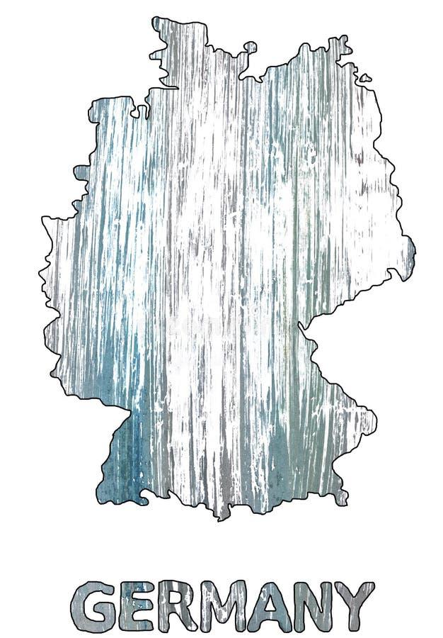 Акварель плана карты Германии римская серебряная иллюстрация штока