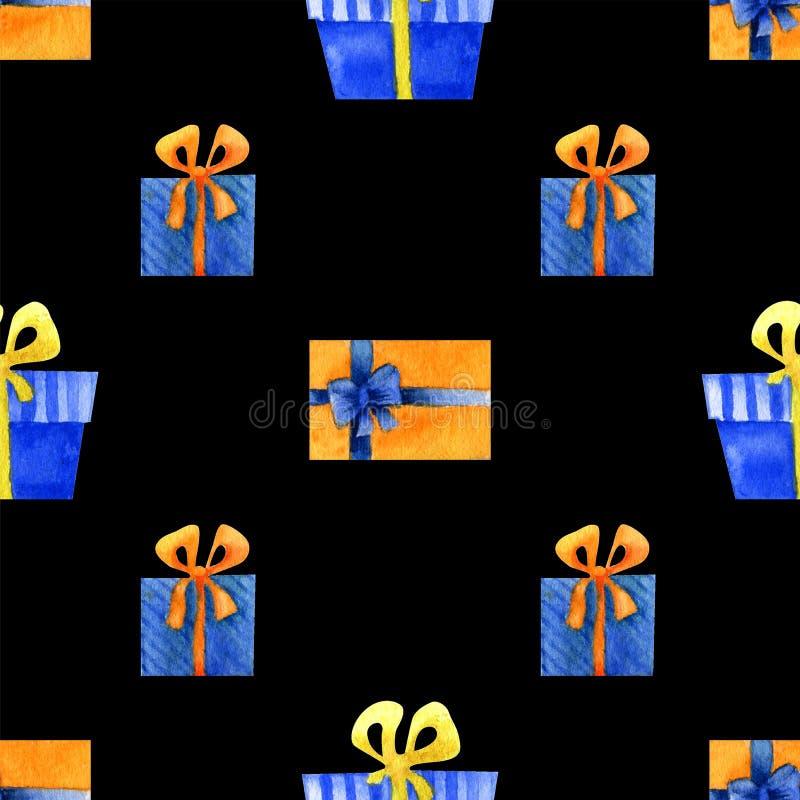 Акварель подарков стоковые фото