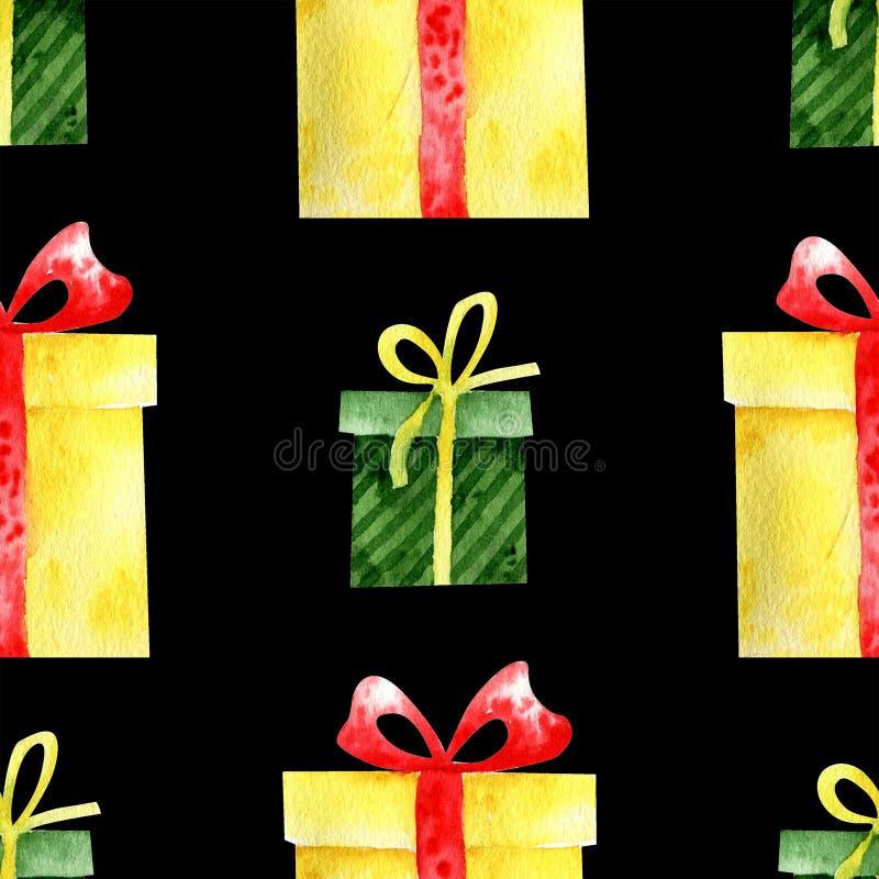 Акварель подарков стоковое изображение rf