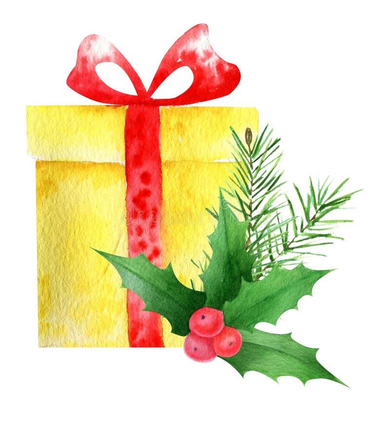 Акварель подарков стоковые изображения
