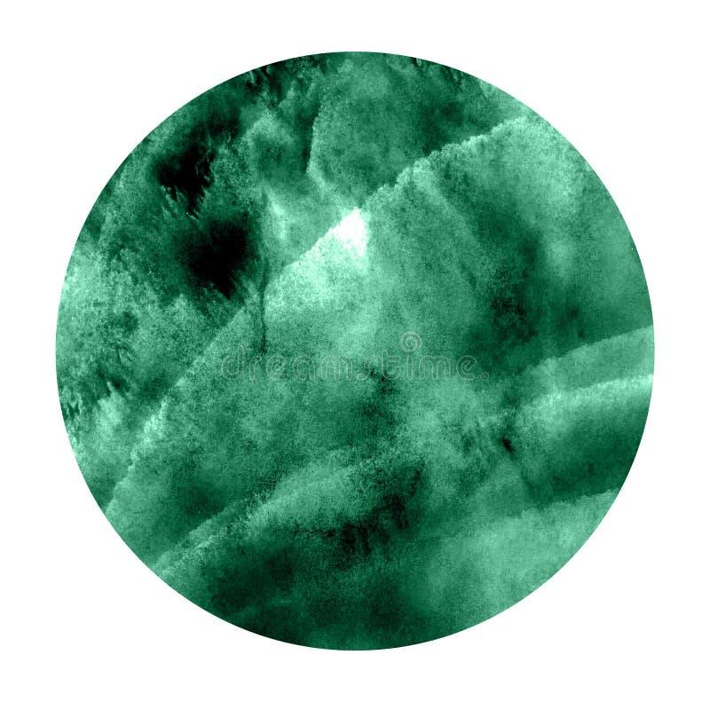 Акварель покрашенная рукой Насыщенная зеленая абстрактная покрашенная предпосылка Красочная текстура иллюстрация вектора