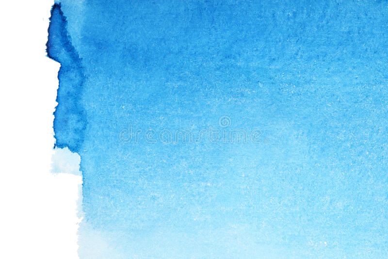 акварель сини предпосылки стоковая фотография rf