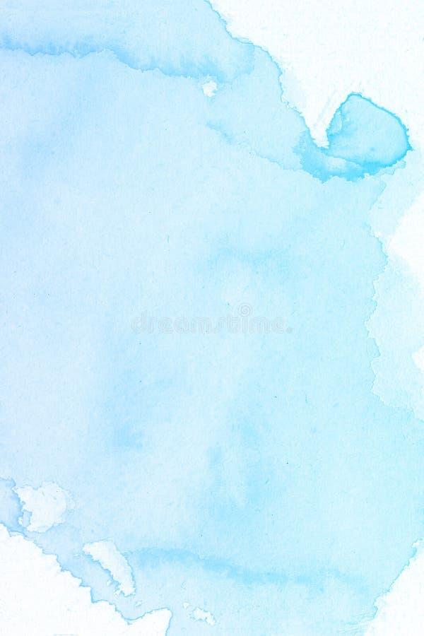 акварель собственной личности абстрактной предпосылки голубая сделанная Нарисованный рукой цвет краски стоковая фотография rf