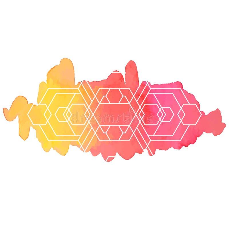 Акварель и предпосылка геометрии бесплатная иллюстрация