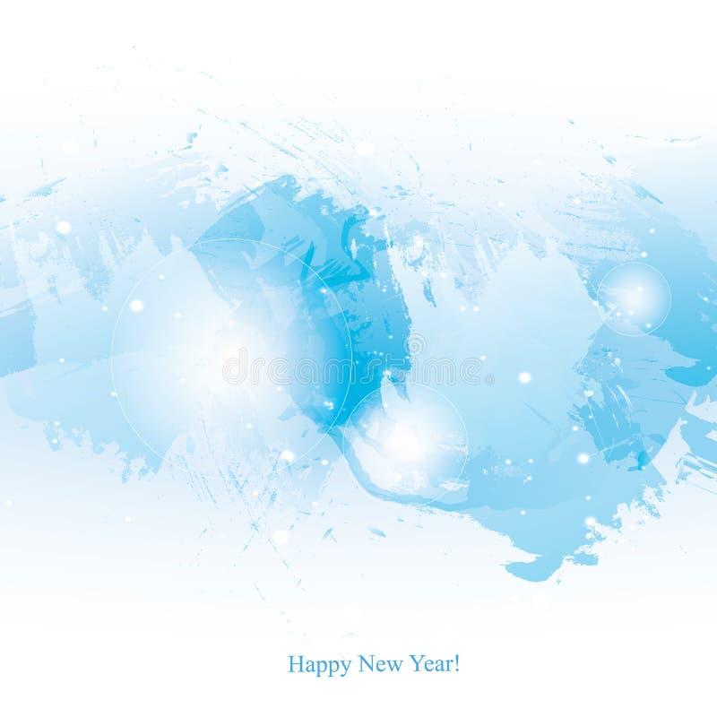 Акварель-Нов-Год-голуб-щетка бесплатная иллюстрация