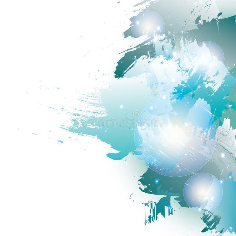 Акварель-Нов-Год-голуб-щетка иллюстрация вектора