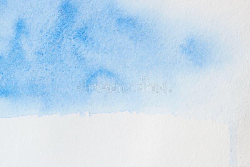 акварель текстуры абстрактной предпосылки голубая покрашенная бумажная стоковая фотография