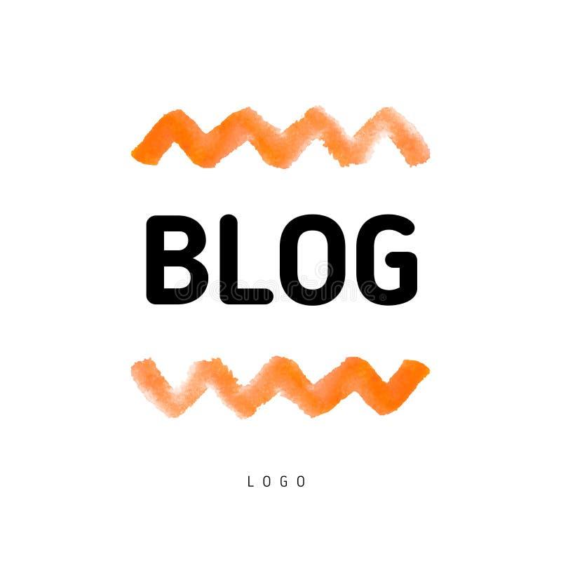 Акварель ухудшает значок кнопки blog& x27; знамя s бесплатная иллюстрация