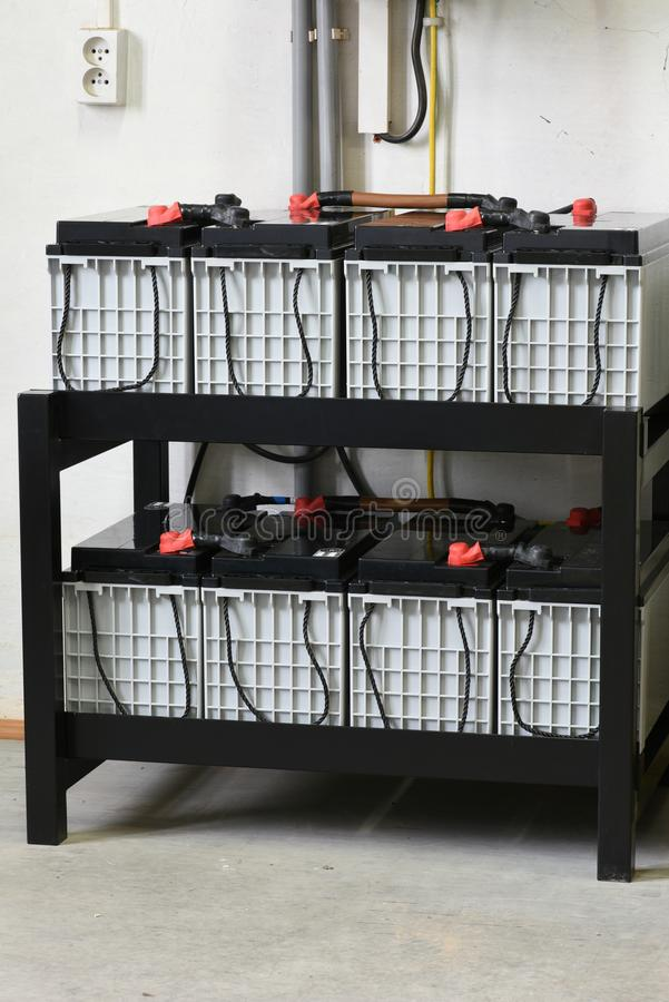 Аккумуляторы силы стоковая фотография