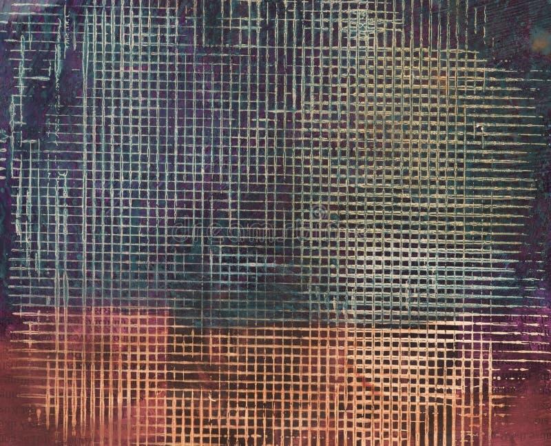 акриловая наслоенная картина краски сетки стоковое фото rf