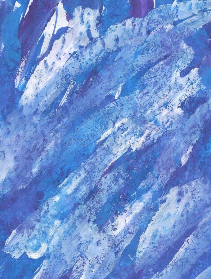 Акриловые синь, индиго и ультрамарин текстуры стоковые фотографии rf