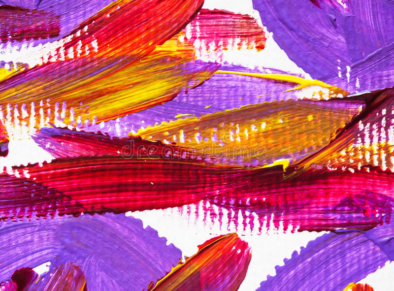 Акриловая щетка картины искусств цвета текстуры предпосылки стоковое фото