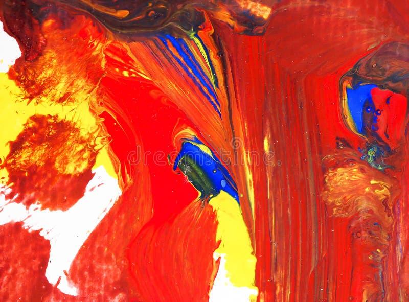 Акриловые искусства картины мочат на бумажной текстуре конспекта предпосылки стоковые фотографии rf