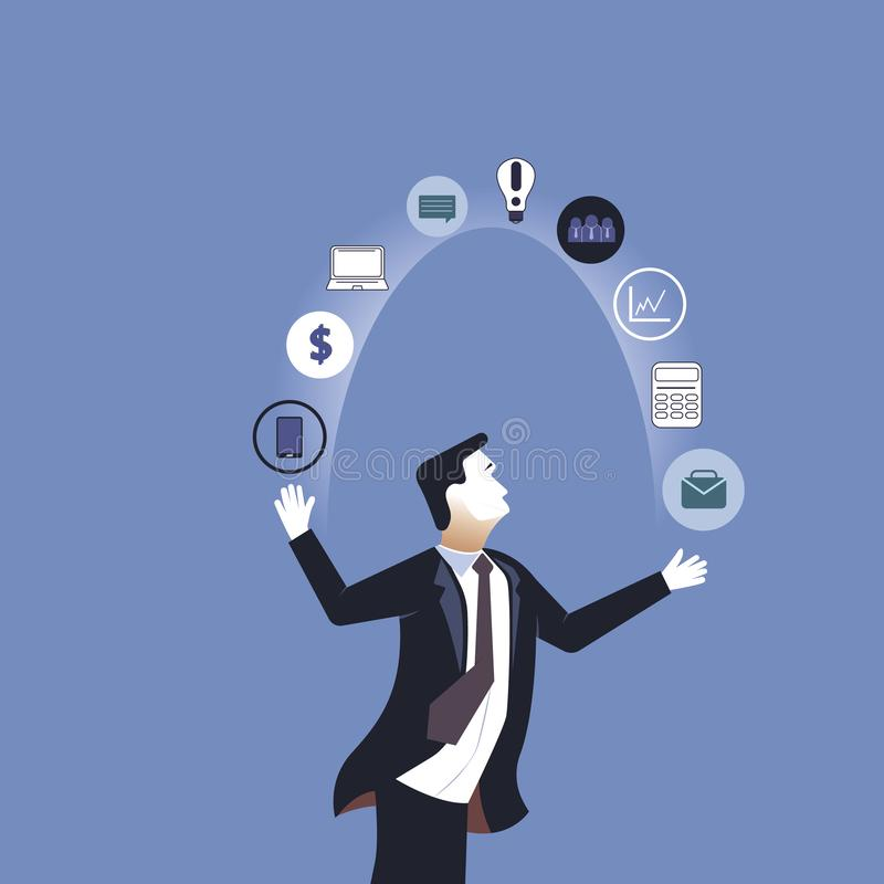 Акробат Значки дела бизнесмена жонглируя r бесплатная иллюстрация