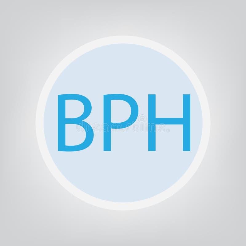 Акроним гиперплазии BPH доброкачественный простатический иллюстрация штока