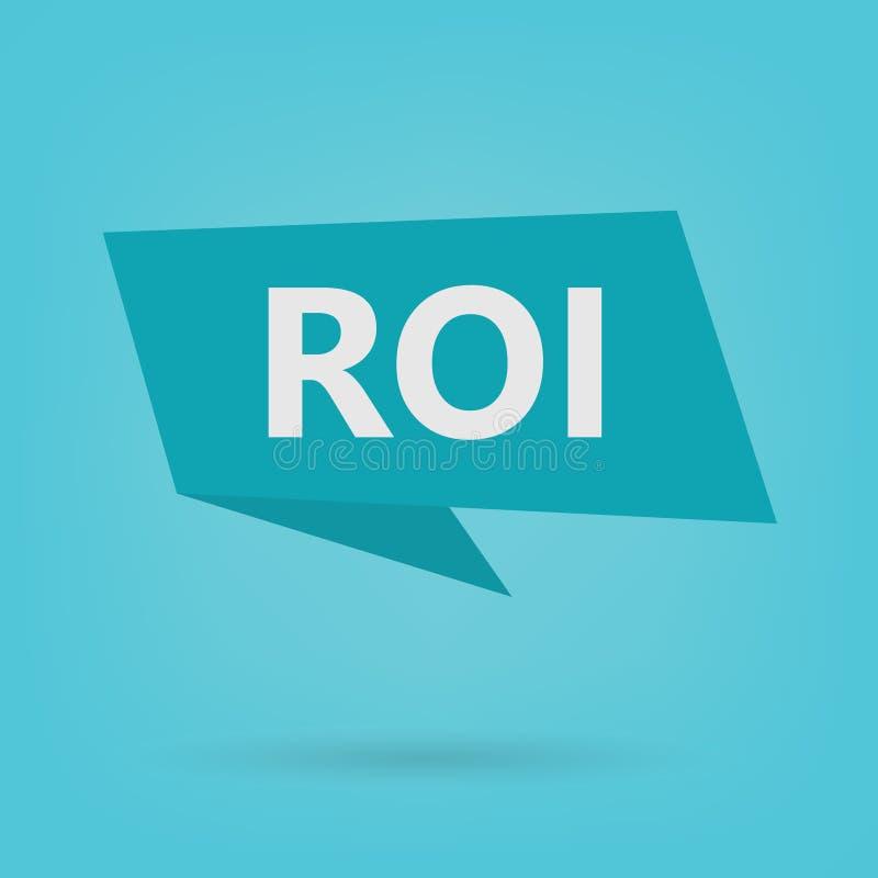 Акроним рентабельности инвестиций ROI на стикере иллюстрация штока