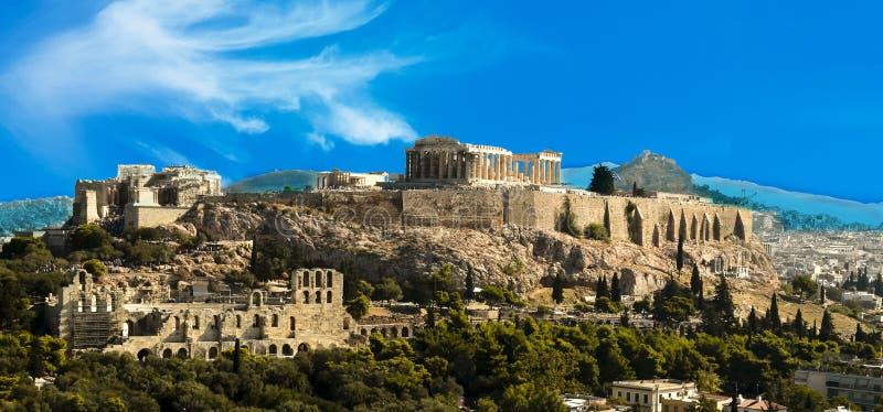 Акрополь Парфенона в Афина Греции стоковые фото