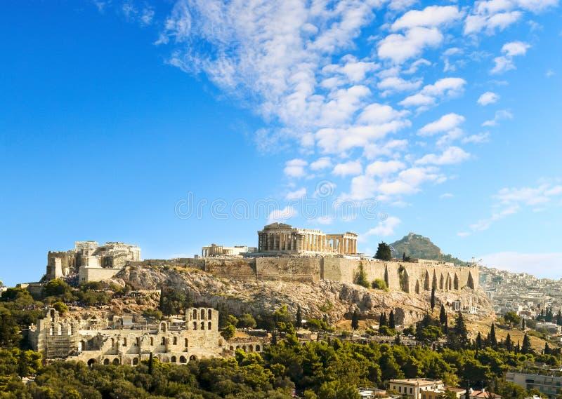 Акрополь Парфенона в Афина Греции стоковые изображения