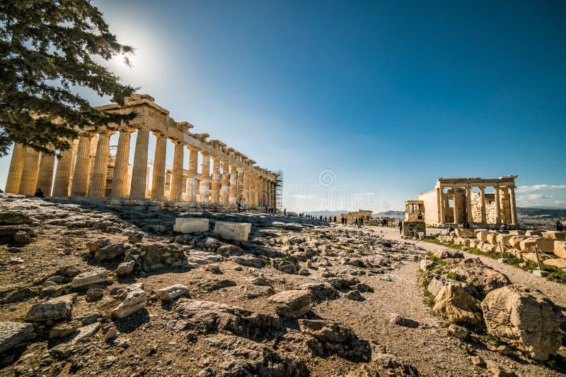 Акрополь Парфенона места Афин археологического стоковые изображения rf
