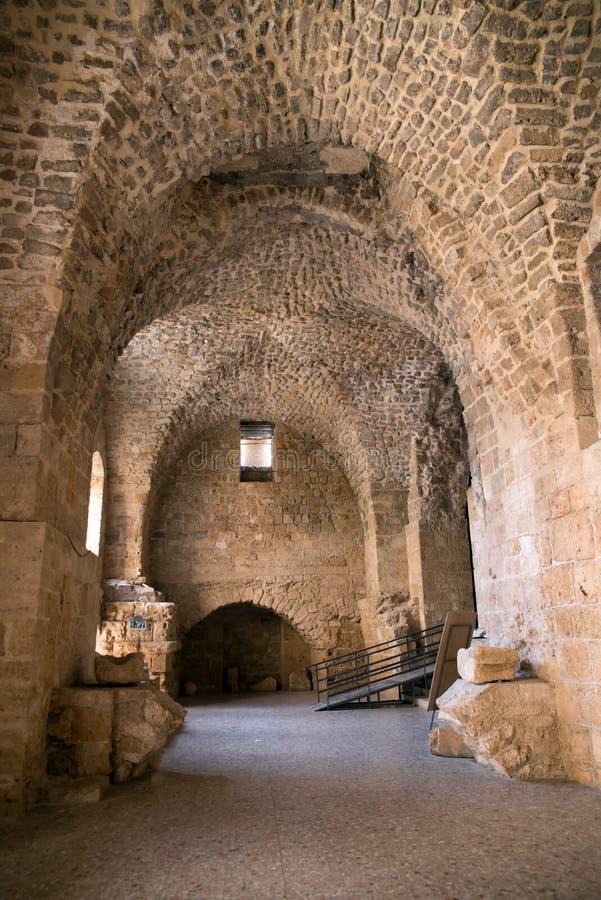 Акр, Израиль - цитадель и тюрьма стоковые фотографии rf