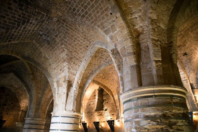 Акр, Израиль - цитадель и тюрьма стоковое фото