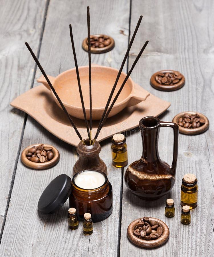 Аксессуары ароматерапии и skincare стоковая фотография rf