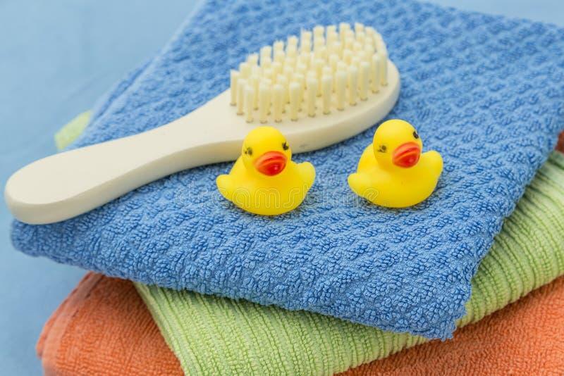 Аксессуары ванны младенца стоковые фотографии rf