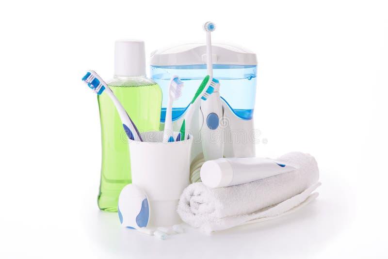 Аксессуары для очищать зубов Гигиена полости рта стоковая фотография