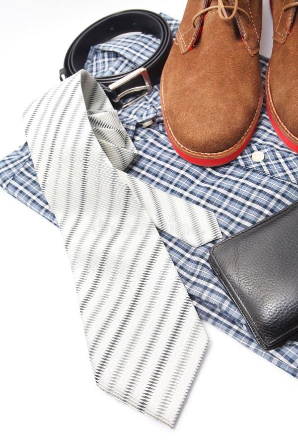 Download Аксессуары дела или мужчины Стоковое Изображение - изображение насчитывающей рубашка, тип: 41658761
