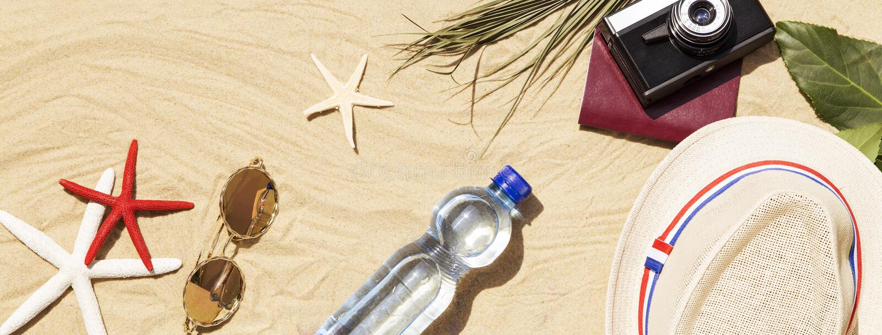 Аксессуары пляжа стоковое изображение