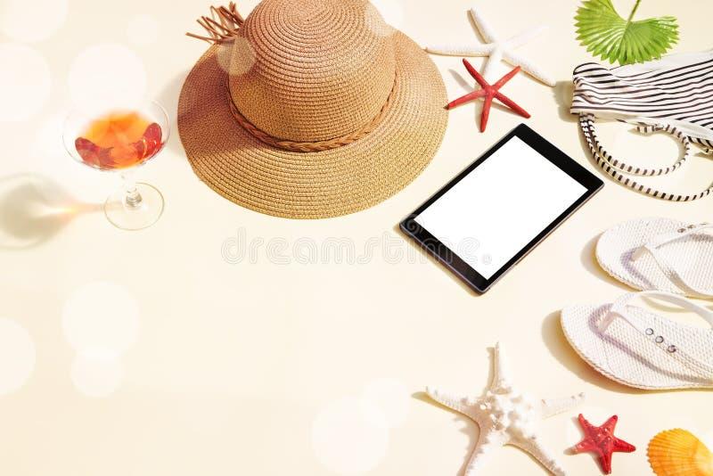 Аксессуары пляжа стоковое фото rf