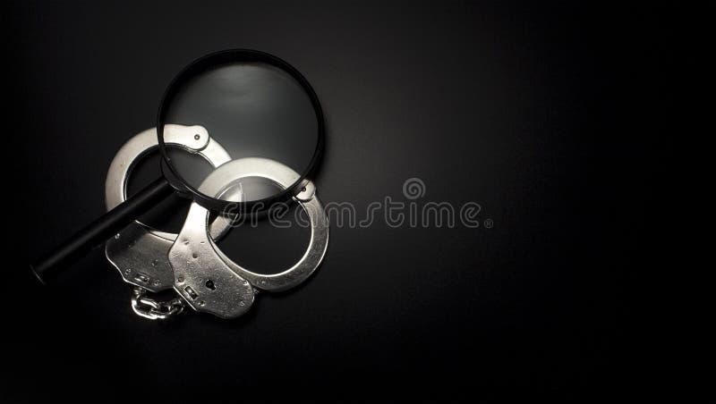 Аксессуары полицейского детектива стоковое изображение