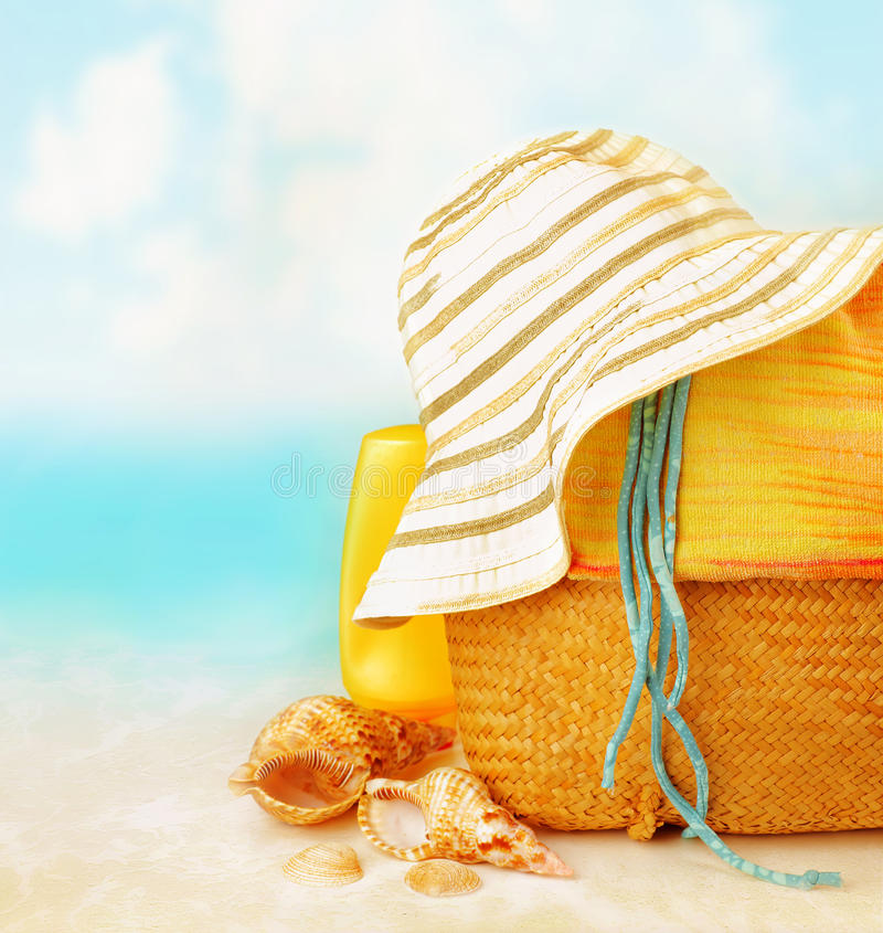 Аксессуары пляжа стоковая фотография rf