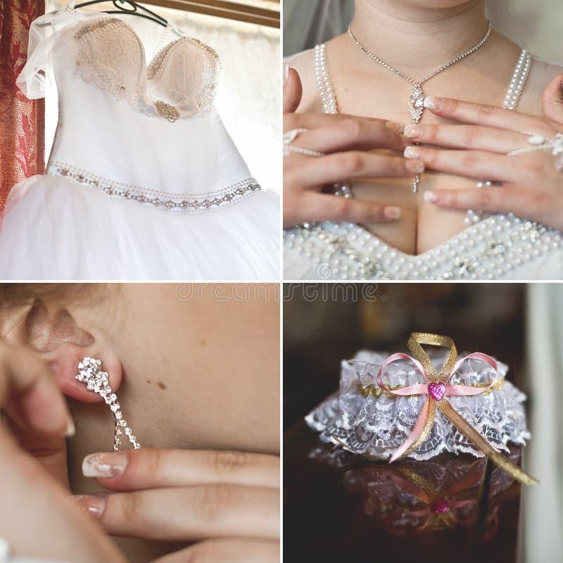 Аксессуары свадьбы установленные для невесты стоковое изображение