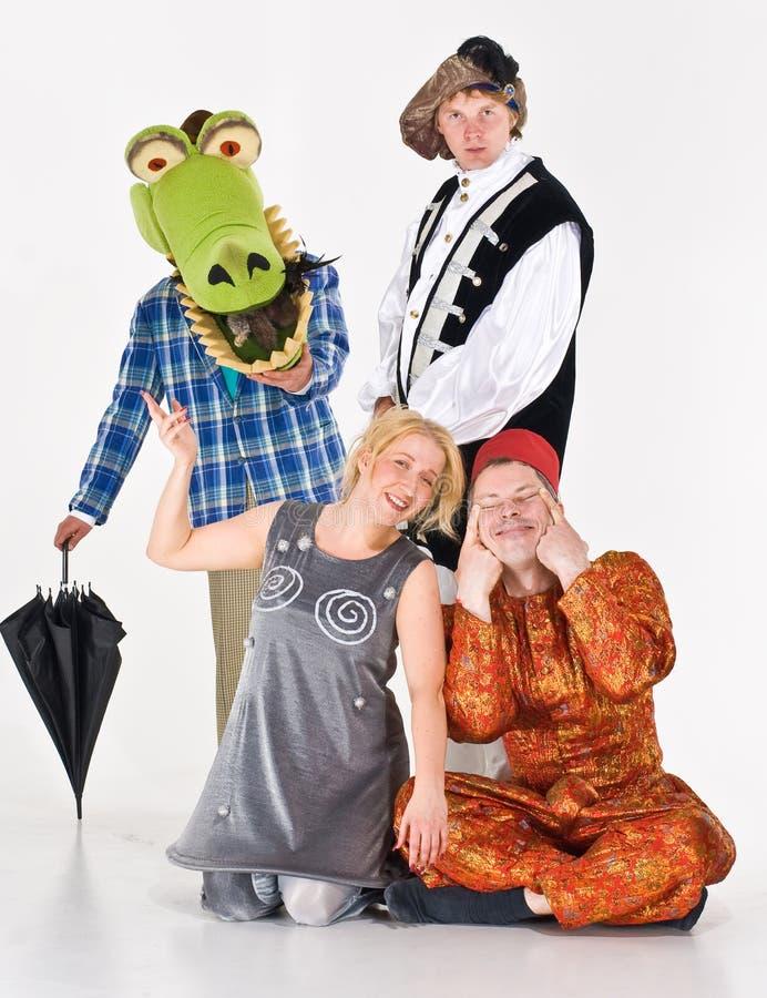 актеры костюмировали стоковое изображение rf