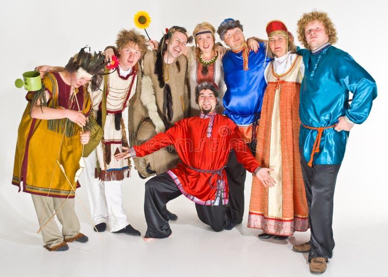 актеры цветастые стоковое изображение