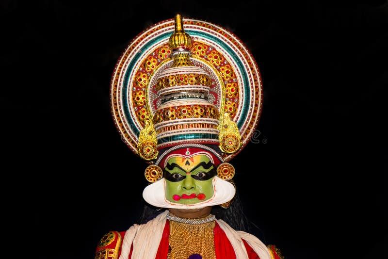 Актер Kathakali во время представления стоковое фото