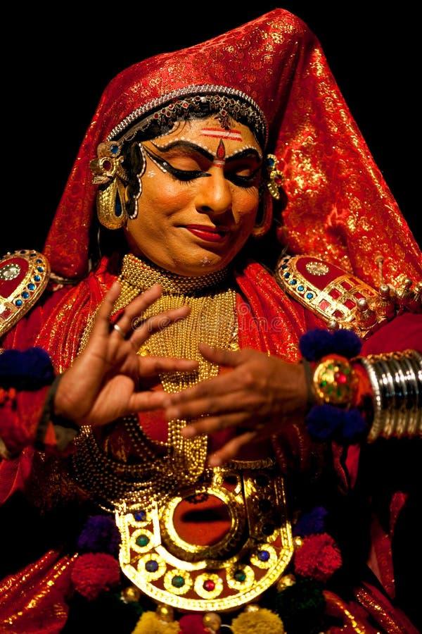 Актер Kathakali в Индии стоковые изображения