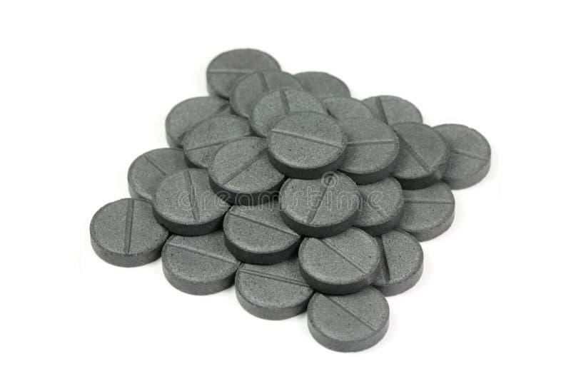 Активированный уголь таблеток стоковое фото rf