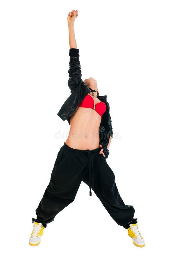 активная белизна хмеля вальмы танцора стоковые фотографии rf