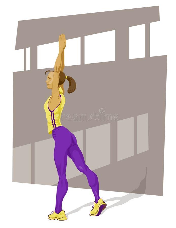 активная девушка иллюстрация вектора