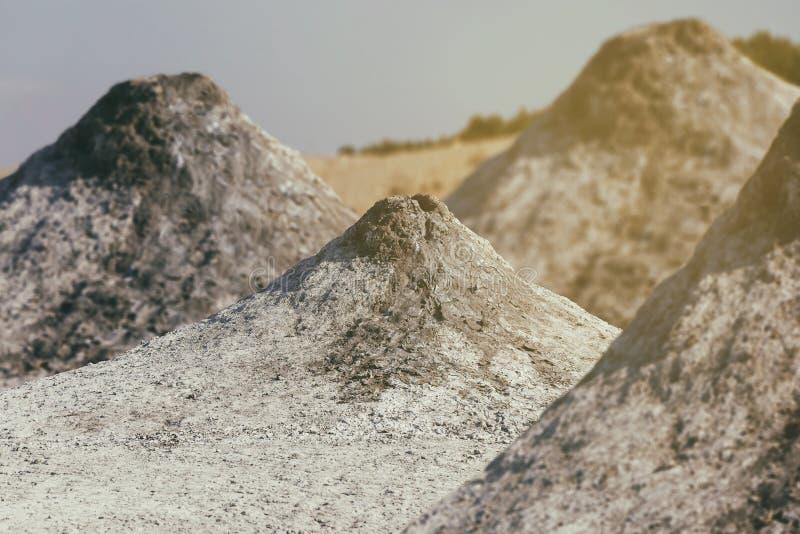 Активные вулканы грязи стоковая фотография rf