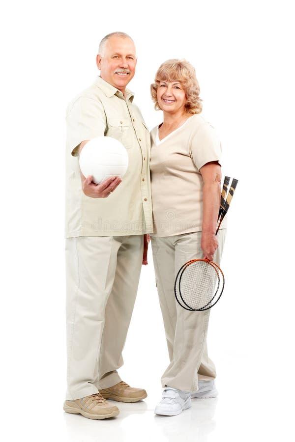 активные пожилые люди пар стоковые фото