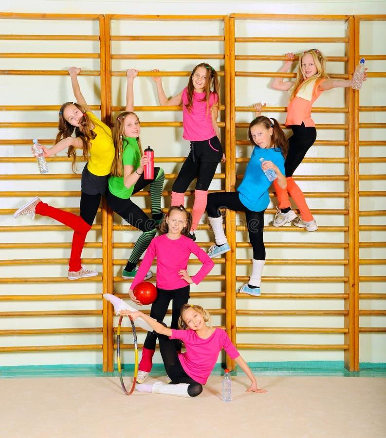 Активные sporty девушки стоковое изображение rf