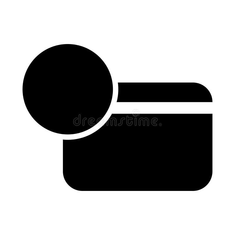 Активный значок кредитной карточки иллюстрация штока